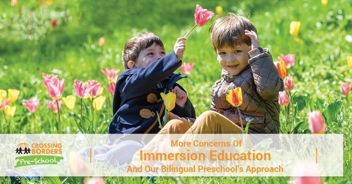 MORE CONCERNS OF IMMERSION EDUCATION AND OUR BILINGUAL PRESCHOOL'S APPROACH